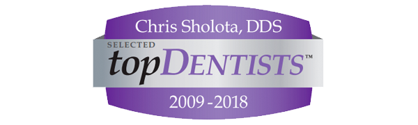 Chris Sholota - Selected Top Dentist 2009-2018